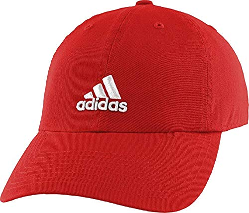 (adidas Womens Saturday Cap, Red Solid/White, One Size)