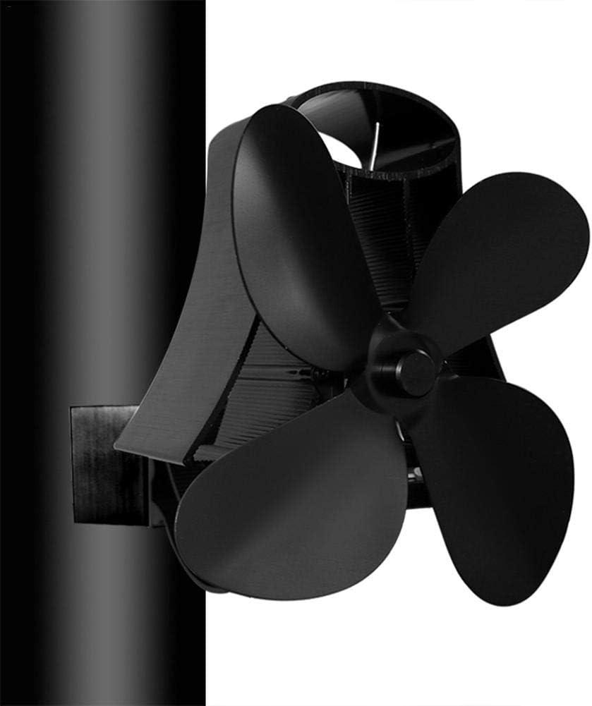 Humflour - Ventilador de chimenea con 4 cuchillas para estufas de ...
