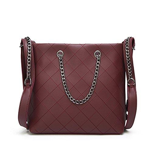 Capacità Catena Messenger Borsa Fashion NB Signore Bag Grande Tracolla Casual Winered XZW axXqRTI