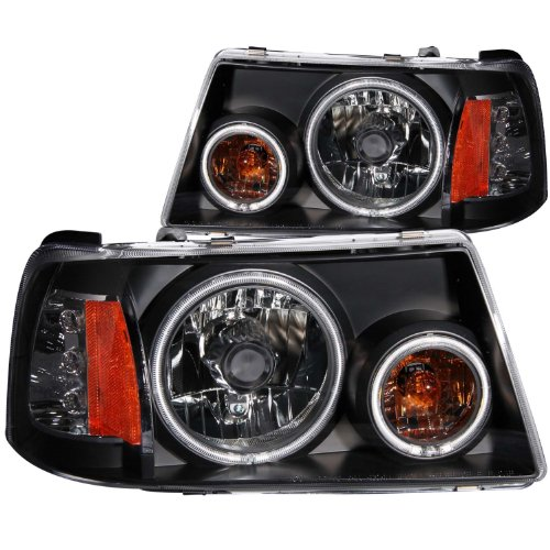 Anzo USA 111152 Ford Ranger 1 Pc. Projector Halo Black Clear Amber Headlight Assembly - (Sold in ()
