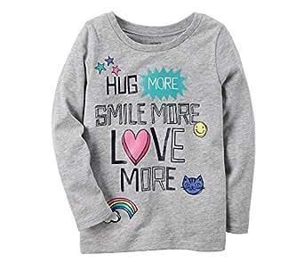 Carter's Girls' 2T-5 Long Sleeve Hug More Tee Shirt 2T
