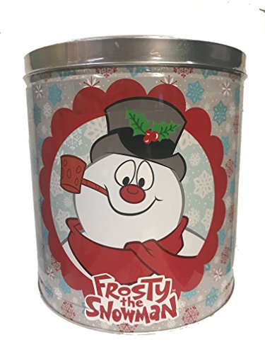 GiftPop Frosty The Snowman Assorted Flavors Popcorn, 24 Oz Tin