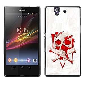 Stuss Case / Funda Carcasa protectora - Vendetta Red Skull V - Sony Xperia Z L36H