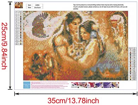 SNODIA DIY 5D Diamond Painting Full Kits Tower Crystal Rhinestone Embroidery Pictures Arts Craft Gift Included for Home Wall Decor Indian 11.8 x 15.7