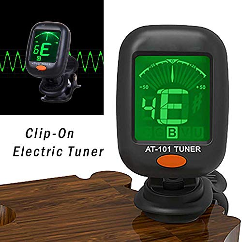 Ukulele AckfulDigital Chromatic LCD Clip-On Electric Tuner for Bass Violin Guitar
