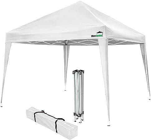 MaxxGarden - Cenador impermeable (3 x 3 m, incluye bolsa, protección UV 50+), color blanco: Amazon.es: Jardín