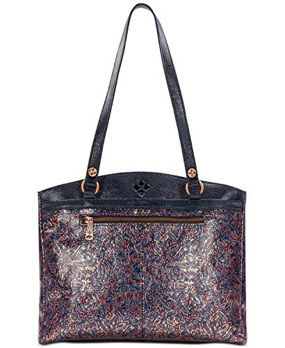 (Patricia Nash Kimono Tapestry Metallic Poppy Tote)
