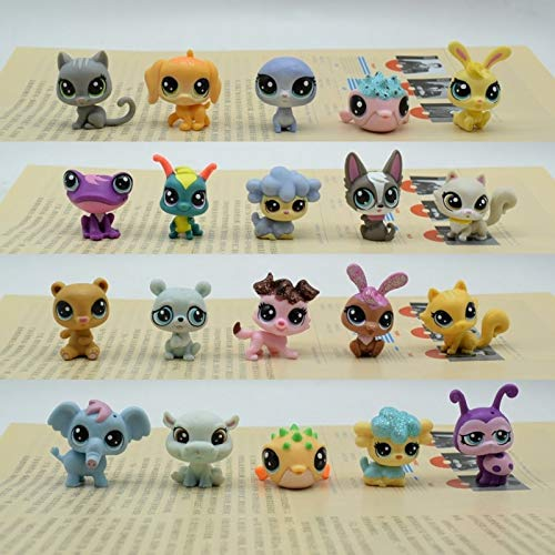 Panamat Action & Toy Figures - Lovely Animals Toy Bag 15Pcs lps Puppy Elephant Bear Fish and Cat Action Figure Cute Pet Toy Birthday 1 PCs from Panamat