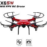 X6SW 480P Camera Wifi FPV RC Drone 2.4G 4CH 6-Axis Gyro Drone RTF Quadcopter