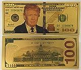 Authentic-100-President-Donald-Trump-Authentic-24kt-Gold-Plated-Commemorative-Bank-Note-Collectors-Item-by-Aizics-Mint