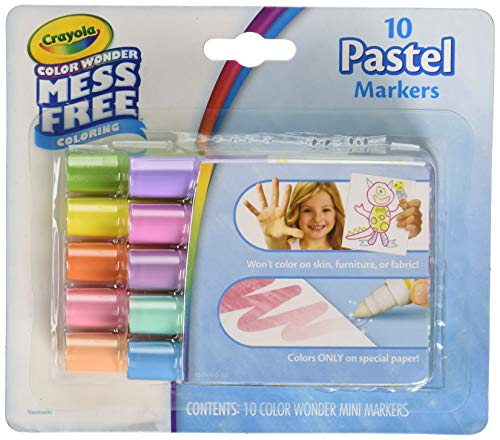 Crayola color wonder mess free 10 pastel markers -