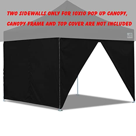 Two Sidewalls for 10x10 Pop up Tent Canopy Side Walls With Zipper Door Zipper End  sc 1 st  Amazon.com & Amazon.com: Two Sidewalls for 10x10 Pop up Tent Canopy Side Walls ...