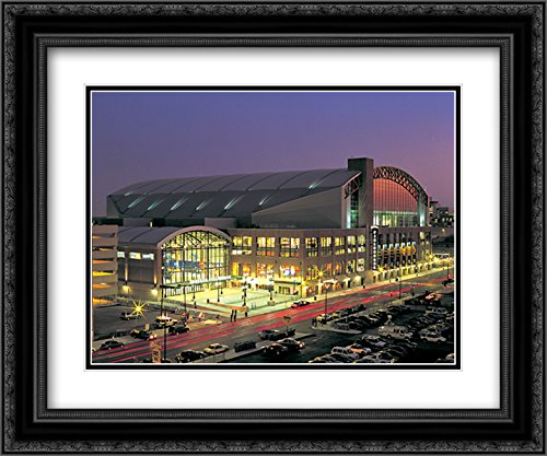 Bankers Life Fieldhouse 2x Matted 24x20 Black Ornate Framed Art Print from the Stadium Series