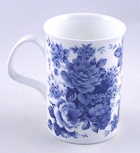 - Roy Kirkham Blue Rose English Chintz Coffee or Tea Mug Fine Bone China