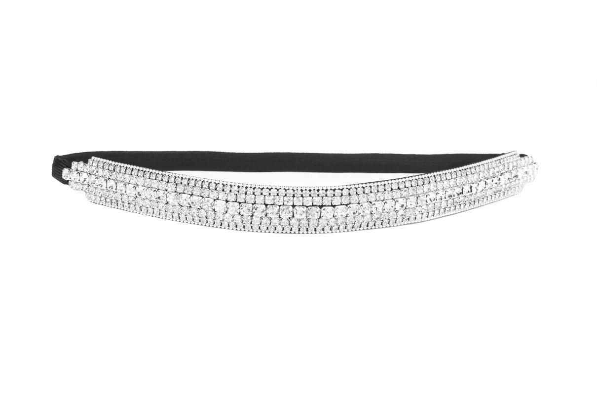 Rhinestone Bridal Stretch Headbands/ Prom Headbands/ Wedding Headbands (Bridal Headband_D)