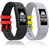 Fitbit Ace 2 Bands for Kids Silicone Bands for Fitbit Ace 2 Waterproof Soft Resilient Sport Adjustable Replacement…