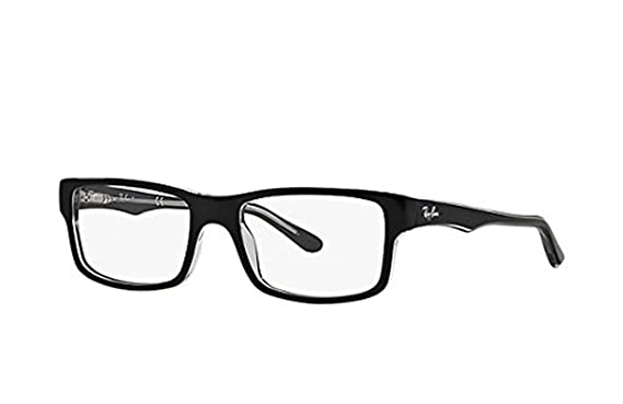 e979690738b Ray-Ban RX 5245 Eyeglasses Top Black on Transparent 54mm   Cleaning Kit  Bundle