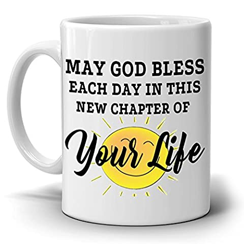 Happy Retirement Gifts Mug New Chapter for Retirees and Retired Men and Women Coffee Cup, Printed on Both - Breakfast Gift Bucket
