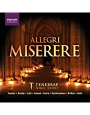 Tavener; Ireland; Rachmaninov;: Allegri Miserere