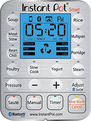 Large Product Image of Instant Pot Smart Bluetooth 6 Qt 7-in-1 Multi-Use Programmable Pressure Cooker, Slow Cooker, Rice Cooker, Yogurt Maker, Sauté, Steamer, and Warmer