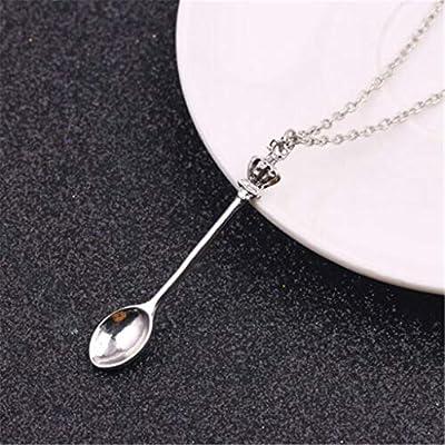 Mini Spoon Necklace Chain Ibiza Festival Alice In Wonderland Ket Pendant Charm K