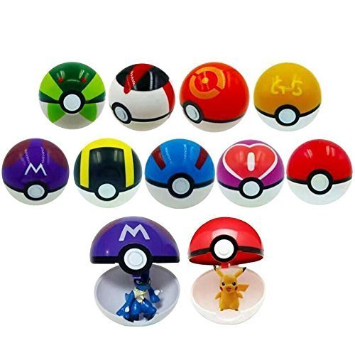 Kool KiDz 9 Pieces Different Style Ball +9 Pieces Figures Plastic Super Anime Figures Balls for Kids Toys Balls Kit