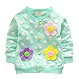 Product review for Fenta Baby Girls Cardigan Warm Flower Dot Outwear Long Sleeve for 6-36 Months