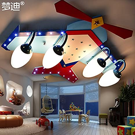 JJ moderna lámpara de techo LED Creative habitación Niños ...