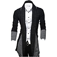 Tom's Ware Mens Classic Fashion Marled Open-Front Shawl Collar Cardigan