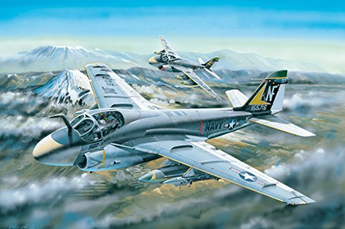Hobby Boss 1/48 Scale A-6A Intruder Plane - Plastic Military Aircraft Model Kit #81708