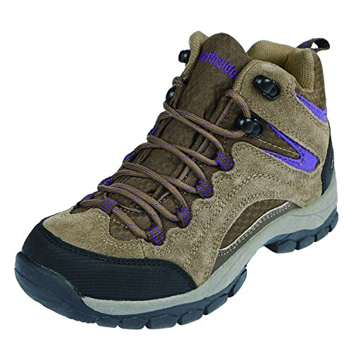Northside Women's Pioneer Hiking Boot, Medium Brown/Dark Purple, 7 M US