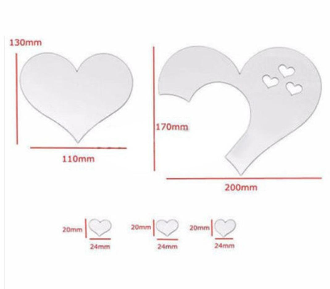 LiPing 3D Mirror Love Hearts Wall Stickers-Removable Decal Art Home Decor Painting Supplies Room Decor Kit-Kids Bedroom Decoration (Red) by LiPing (Image #3)