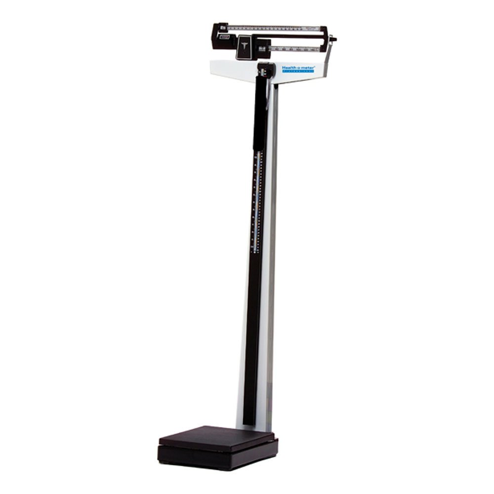 Health o meter 450KL 500 lb Capacity Beam Scale with Rotating Poise Bar and Height Rod