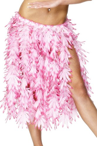 Smiffy's Women's Hawaiian Hula Skirt, Pink, One Size, (Hula Halloween Costumes)