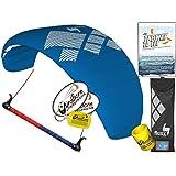 HQ Fluxx 2.2M Trainer Kite TR plus Kiteboarding DVD Bundle (4 items) Includes 'The Way To Fly' Beginner Kitesurfing Instructional DVD + WindBone Kite Lifestyle Decals + WindBone Key Chain : Foil Power
