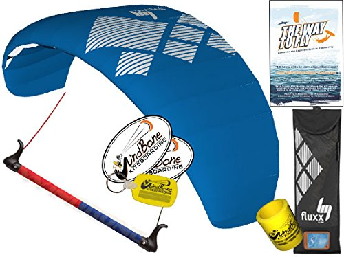 HQ Fluxx 2.2M Trainer Kite TR plus Kiteboarding DVD Bundle (4 items) Includes 'The Way To Fly' Beginner Kitesurfing Instructional DVD + WindBone Kite Lifestyle Decals + WindBone Key Chain : Foil Power