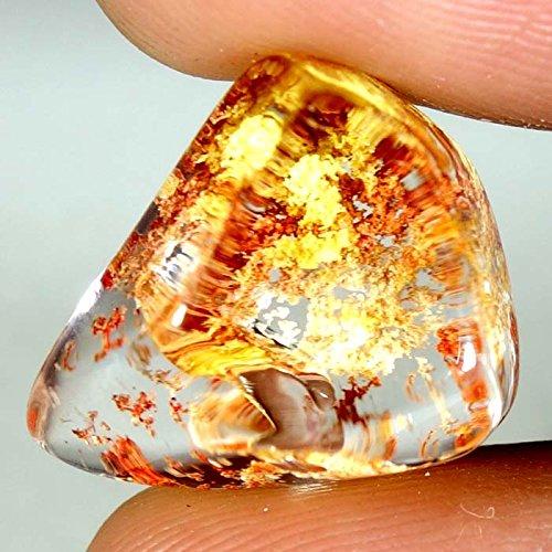 17.45cts. 100% naturel à rabat Lodolite Jardin à quartz Fancy cabochon pierres précieuses