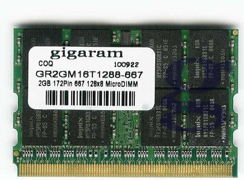 Gigaram 2GB 172pin Fujitsu Lifebook P1610 DDR2 667Mhz Micro DIMM Memory