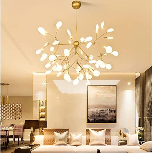 KALRI Modern Sputnik Firefly Chandelier Pendant Lighting Fixture Ceiling Light G4 Light 23.6''X22''