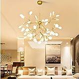 "KALRI Modern Sputnik Firefly Chandelier Pendant Lighting Fixture Ceiling Light G4 Light (31.5""X30""- 45Heads)"