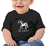 Sfjgbfjs Black Baby Got Paint T-Shirt 12M Soft Cozy Infant Short Sleeve Undershirts