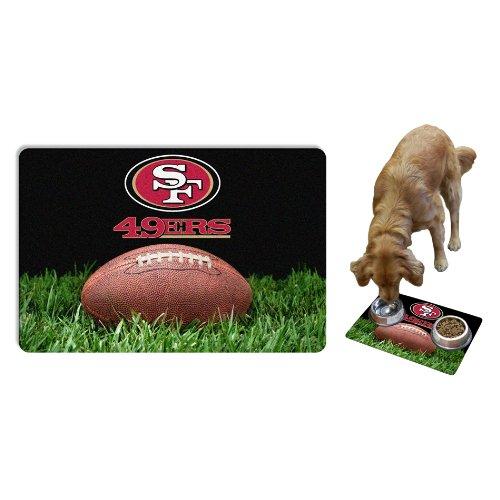 - NFL San Francisco 49ers Classic Football Pet Bowl Mat, Large