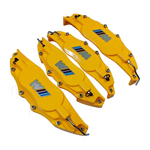Leadchange 4x Customized Yellow color Caliper Cover M Label For BMW Cars Class 1 3 5 X1 X3 X5 M M3 M5 Brake Styling Decoration Kit Multi-color (Iii Brake Caliper)