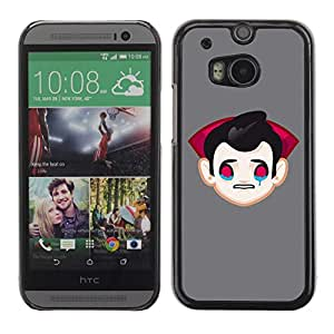 A-type Arte & diseño plástico duro Fundas Cover Cubre Hard Case Cover para All New HTC One (M8) ( Divertido triste vampiro Drácula Ilustración )