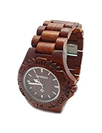 Handmade Wooden Watch Made with Natural Sandalwood in Red - HGW-085
