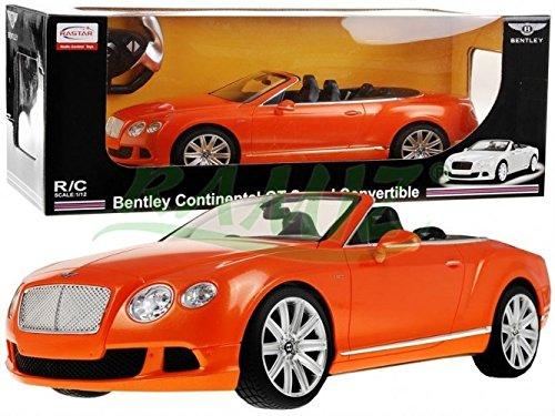 BSD 1:12 Bentley KONTINENTAL GT GESCHWINDIGE KONVERTIBLE Lizenzierte Orange RASTAR