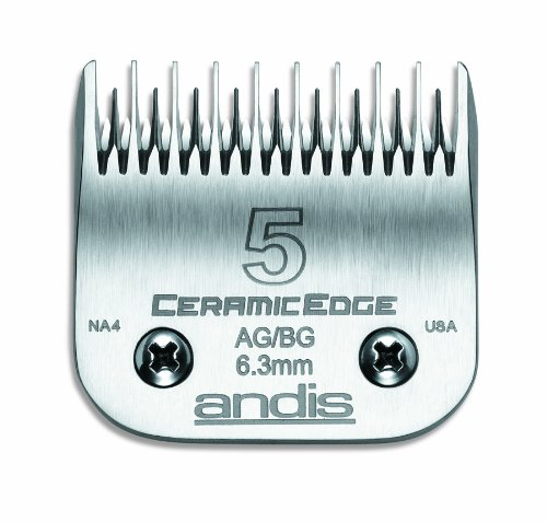 Andis CeramicEdge Carbon-Infused Steel Pet Clipper Blade, Size-5, 1/4-Inch Cut Length, My Pet Supplies