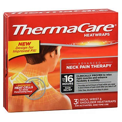 ThermaCare Neck Wrist and Shoulder HeatWraps 3 ct. (Pack of 2)