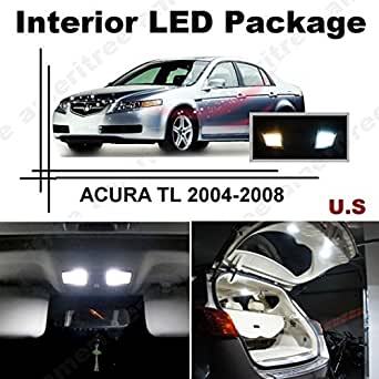 Ameritree acura tl 2004 2008 11 pcs xenon white led lights interior package and white led 2004 acura tl led interior lights