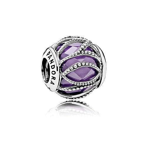 Pandora Women s 791968ACZ Intertwining Radiance Charm, Silver